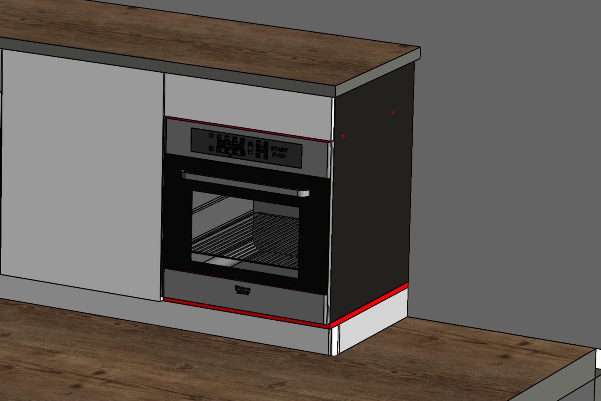 ящик над духовкой